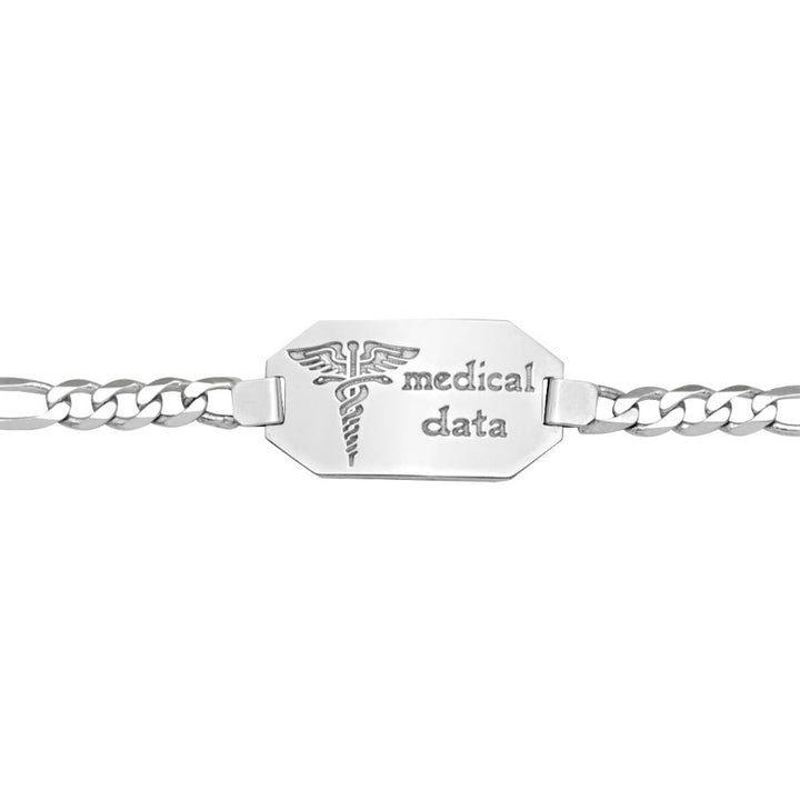 10kt White Gold Medical Alert Bracelet