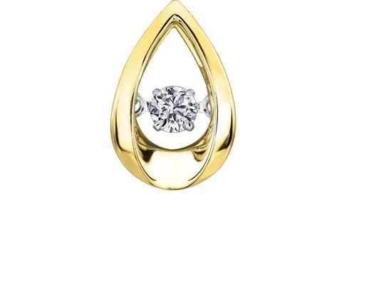 18kt Yellow Gold 0.59ct Canadian Solitaire Diamond Pulse Pendant