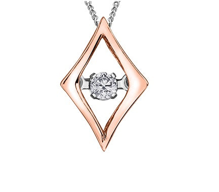10kt Rose Gold Diamond Pulse Pendant