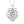 Sterling Sliver Diamond Heart Pendant
