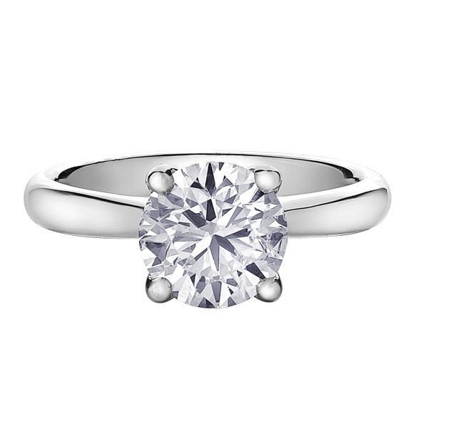 14KT WHITE GOLD 2.00CT ROUND BRILLIANT CUT DIAMOND SOLITAIRE
