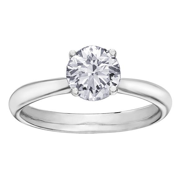 18KT WHITE GOLD 1.50CT ROUND BRILLIANT CUT SOLITAIRE