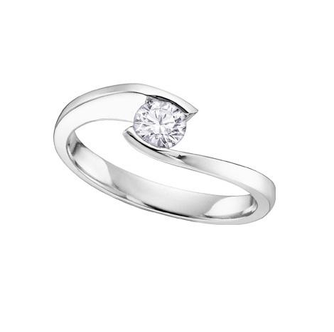18kt White Gold 0.30ct Certified Canadian Diamond Solitaire