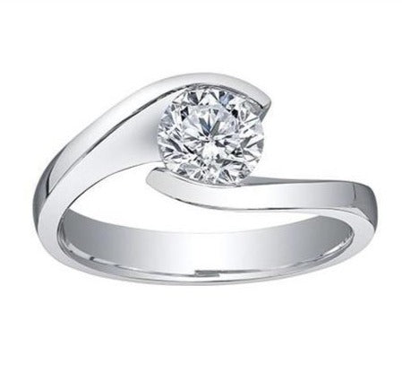 18kt White Gold 1.00ct Certified Canadian Diamond Solitaire Ring