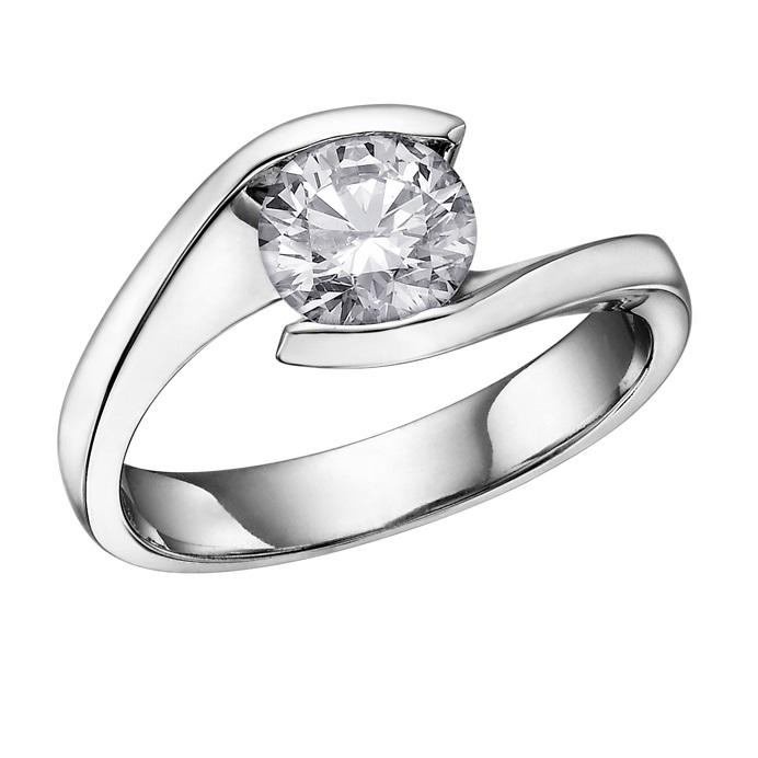 18KT WHITE GOLD 0.70CT ROUND CERTIFIED CANADIAN DIAMOND SOLITAIRE