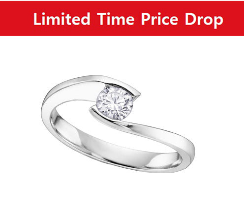18kt White Gold Certified Canadian Diamond Solitaire Ring