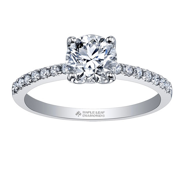 18kt White Gold 1.68cttw Canadian Diamond Engagement Ring