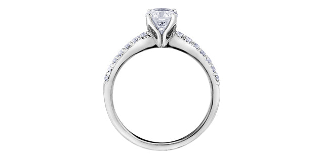 18kt White Gold 1.17cttw Canadian Diamond Engagement Ring