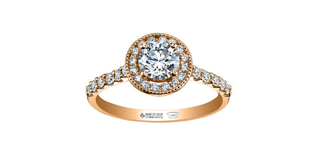 14kt Rose Gold 0.60cttw Canadian Diamond Engagement Ring