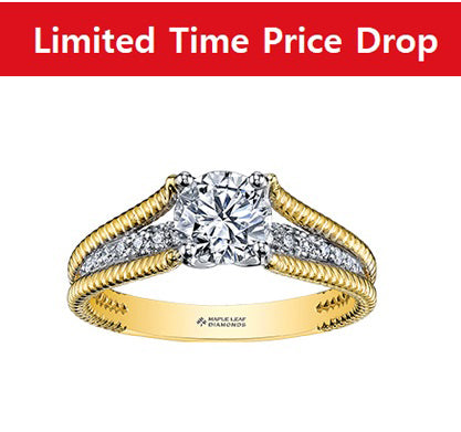 18KT Yellow and White Gold Canadian Diamond Engagement Ring