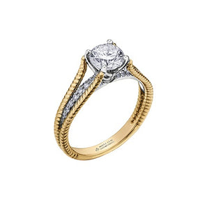 18kt Yellow and White Gold 1.15cttw Canadian Diamond Engagement Ring