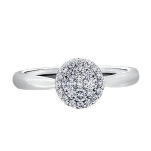 14kt White Gold 0.705cttw Engagement Ring