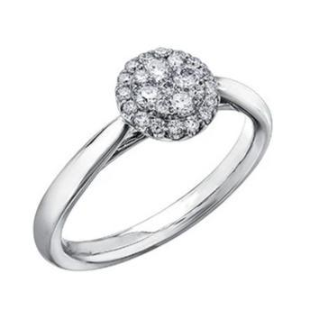 14kt White Gold 0.75cttw Halo Engagement Ring