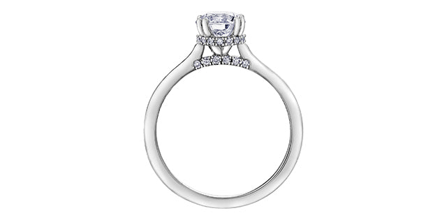 18kt White Gold Round 0.62cttw Canadian Diamond Engagement Ring