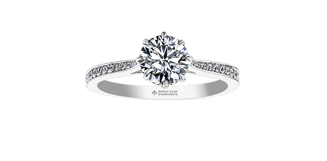 14kt White Gold 0.85cttw Canadian Diamond Engagement Ring