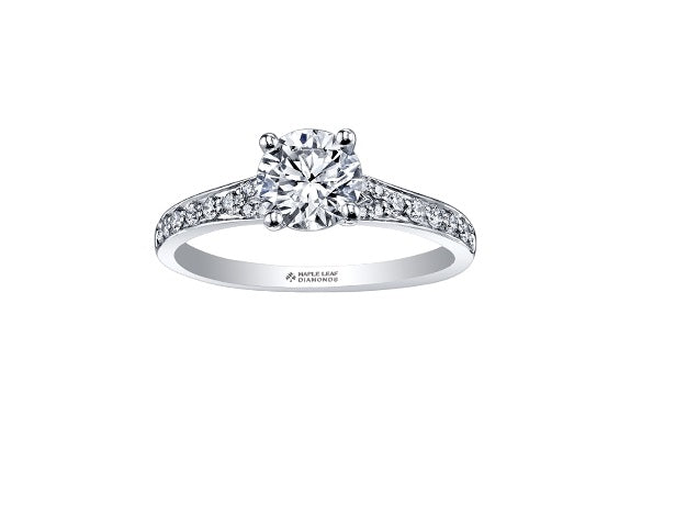 18kt White Gold 0.71cttw Canadian Diamond Center Engagement Ring