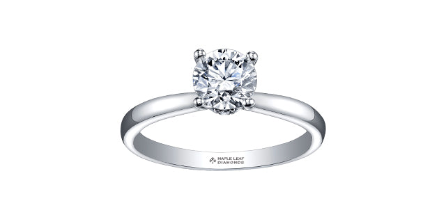 18kt White Gold Round Canadian Diamond Engagement Ring