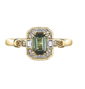 10kt Yellow Gold Green Tourmaline Ring