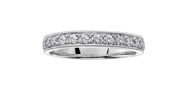 14kt White Gold 2.00cttw Diamond Milled Edge Wedding Band
