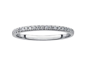18kt White Gold 0.25cttw Diamond Wedding Band