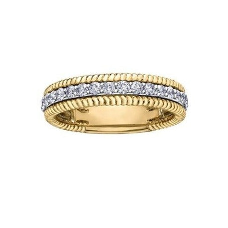 18kt Yellow Gold 0.566cttw Diamond Wedding Band