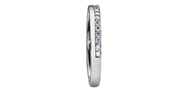 10kt White Gold 0.15cttw Diamond Women's Wedding Band