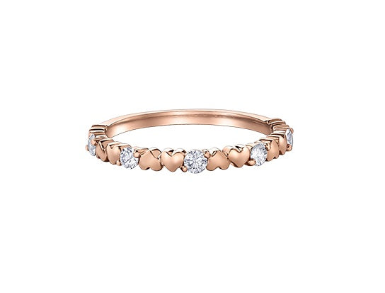 10kt Rose Gold Canadian Diamond Heart Ring