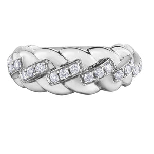 10KT WHITE GOLD 0.50CTTW DIAMOND RING