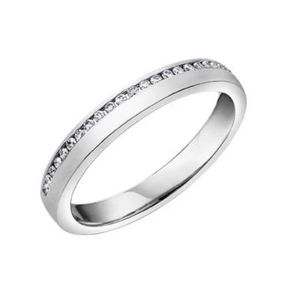 10kt White Gold 0.12cttw Diamond Women's Wedding Band