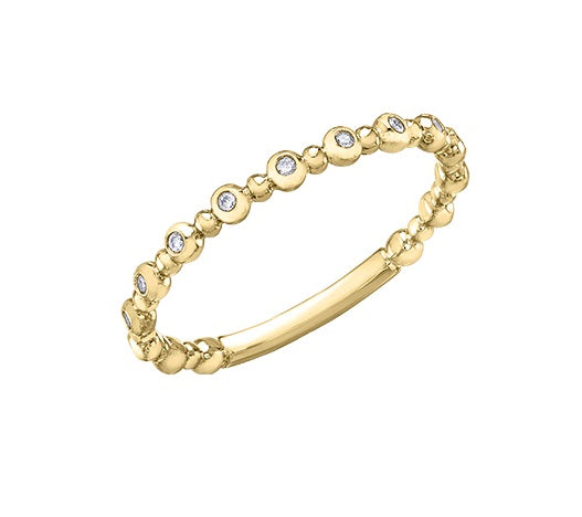 10kt Yellow Gold Diamond Stackable Ring