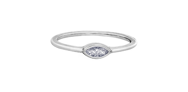 10kt Delicate Diamond Stackable Ring