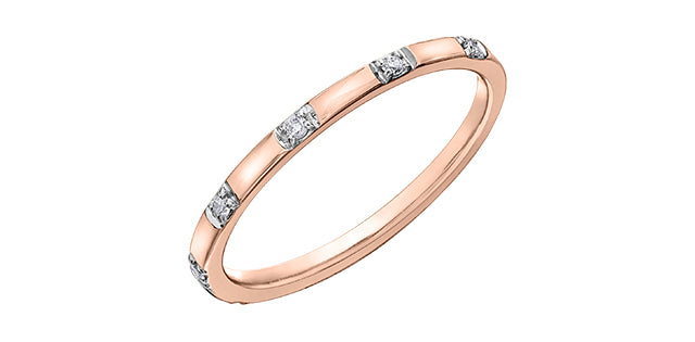 10kt Rose Gold Diamond Wedding Band