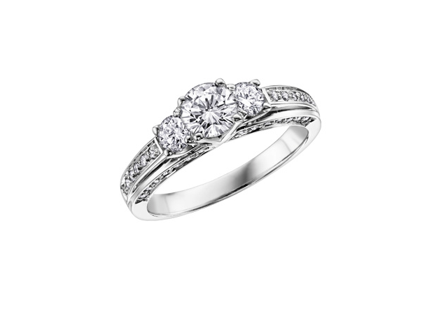 14kt Three Across 0.50cttw Diamond Ring