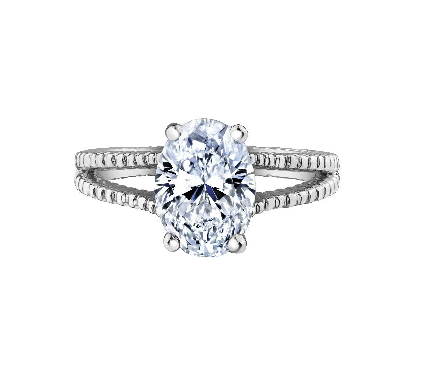 18kt White Gold 2.36ct Oval Solitaire Canadian Diamond Engagement Ring