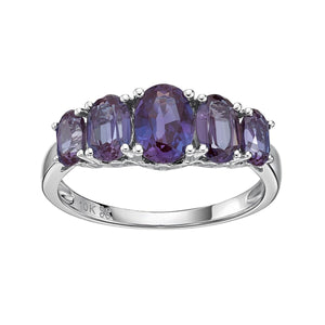 10kt White Gold Crafted Alexandrite Ring