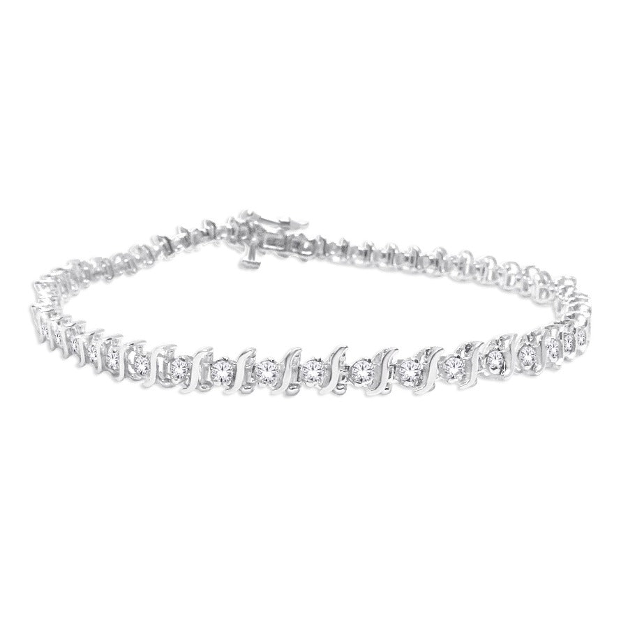 10KT WHITE GOLD 1.00CTTW  DIAMOND TENNIS BRACELET
