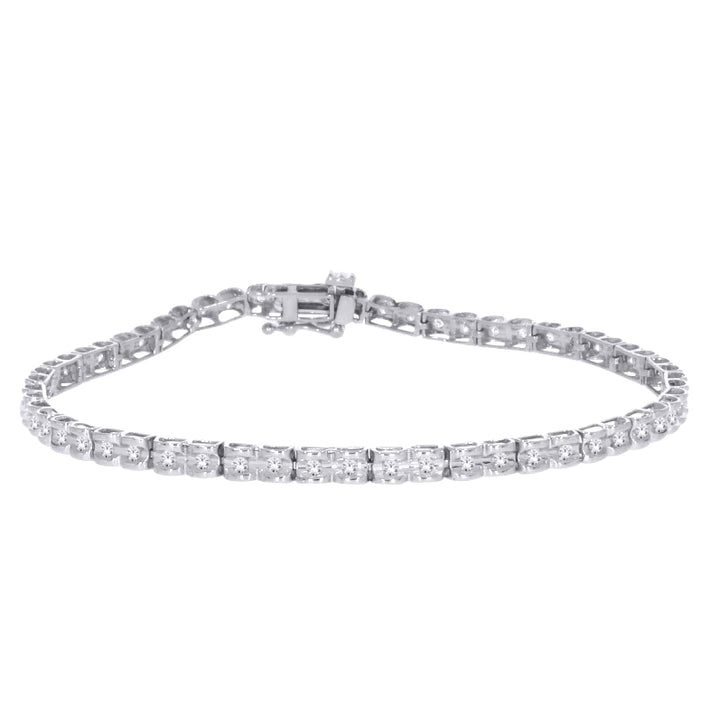10kt White Gold Diamond Tennis Bracelet