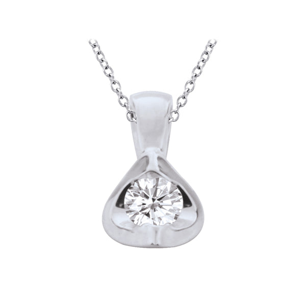 14kt White Gold Mezzaluna 0.50ct Diamond Pendant