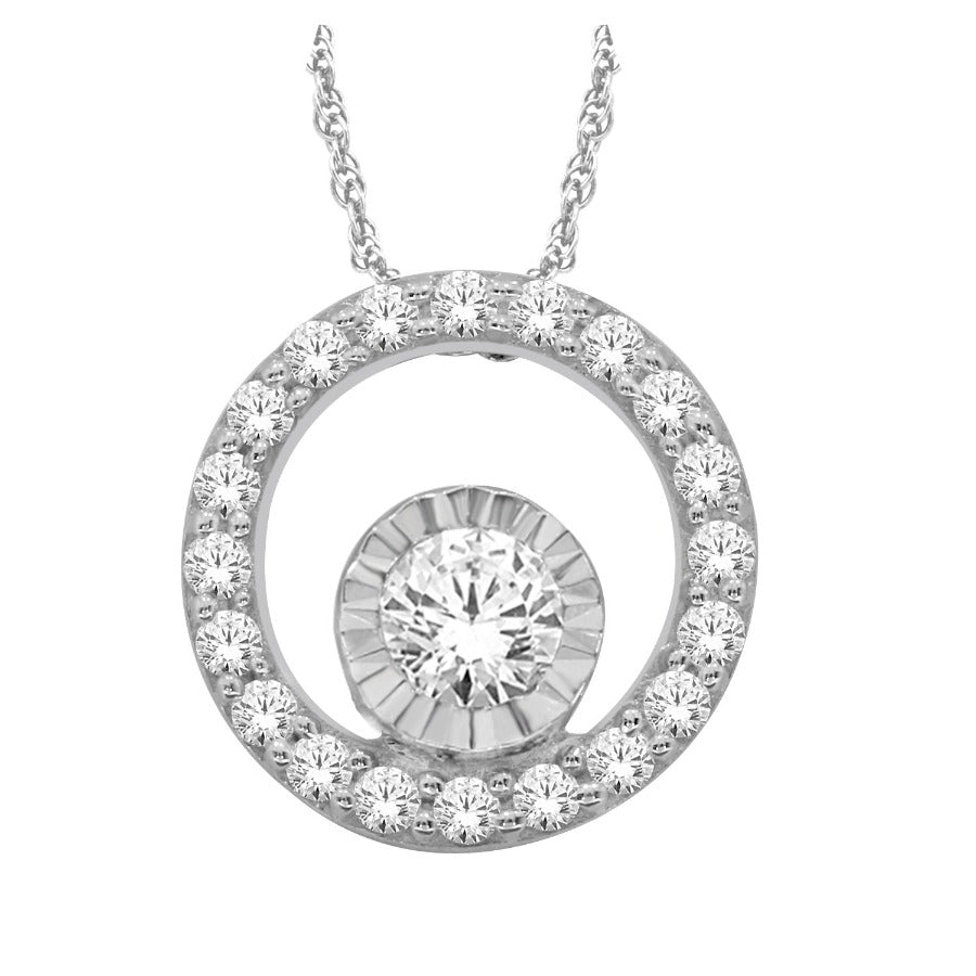 10KT WHITE GOLD 0.15CTTW DIAMOND PENDANT