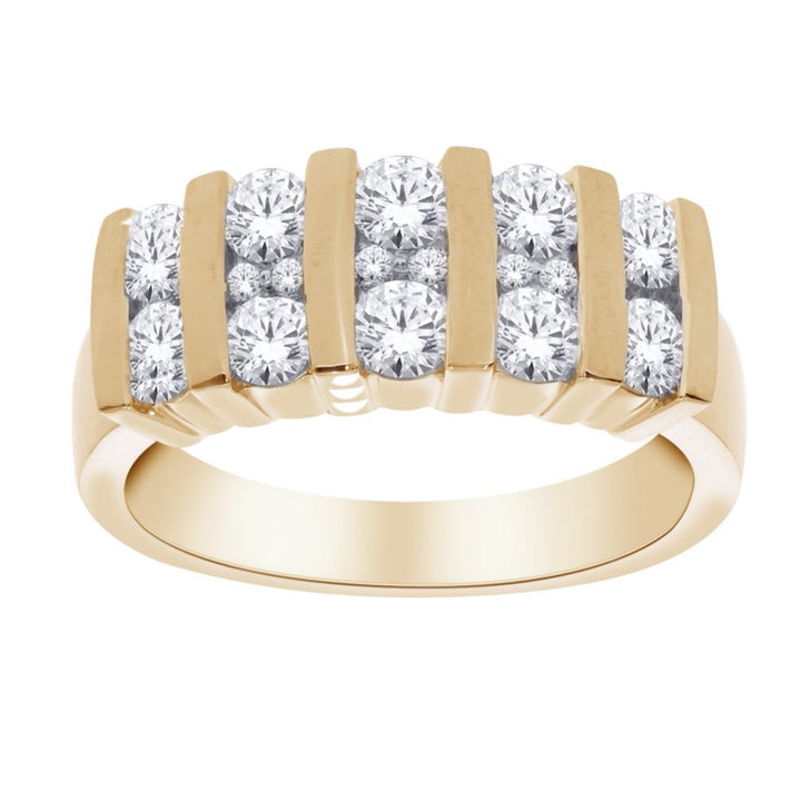 14kt Yellow Gold Diamond Channel Ring
