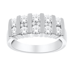 14kt White Gold 1.00cttw Diamond Channel Ring