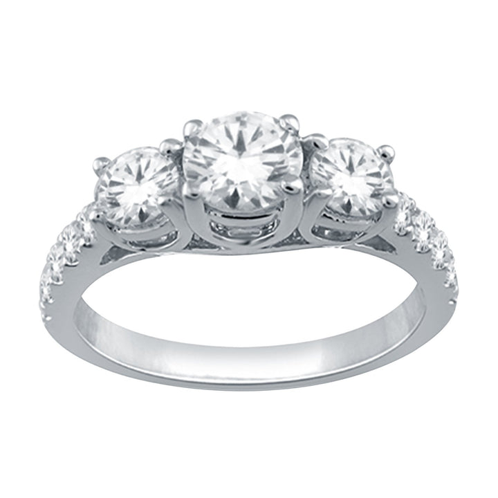 10KT WHITE GOLD 1.00CTTW THREE ACROSS DIAMOND RING SKU267972