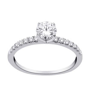 14kt White Gold 0.75cttw Diamond Engagement Ring
