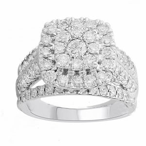 10kt White Gold 2.00cttw Diamond Halo Ring