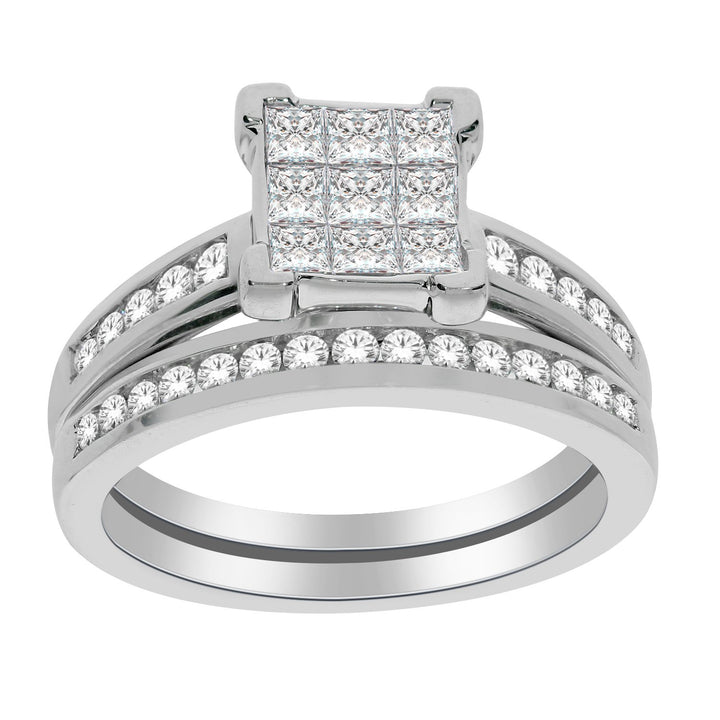 10kt White Gold 1.00cttw Diamond Engagement Ring