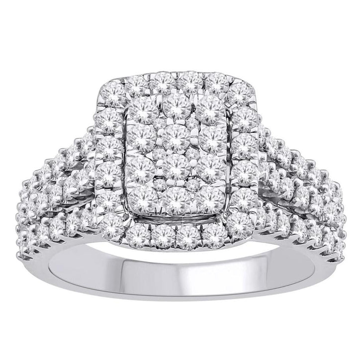 10KT WHITE GOLD 1.50CTTW DIAMOND RING SKU267971