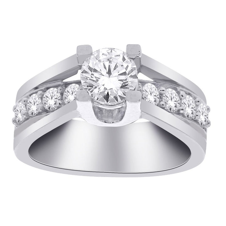 14kt White Gold 1.00cttw Diamond Engagement Ring