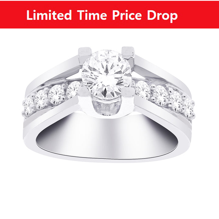 14kt White Gold 1.50cttw Diamond Engagement Ring