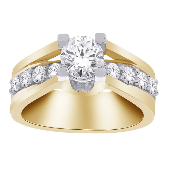 14kt Yellow Gold 1.50cttw Solitaire Diamond Engagement Ring