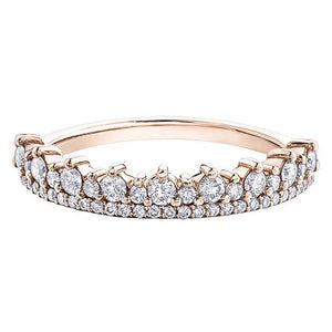 10KT ROSE GOLD 0.50CTTW PAVE TIARA DIAMOND RING